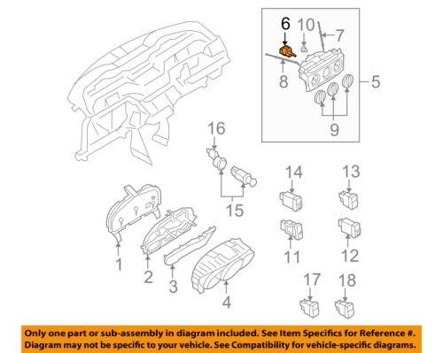 MAZDA OEM 04-09 3-AC Heater Blower Motor Switch BP4K61C50