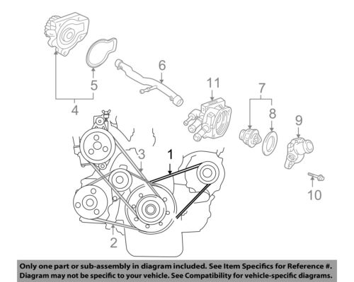 Acura Honda Oem 94 01 Integra 1 8l Serpentine Drive Alternator Belt