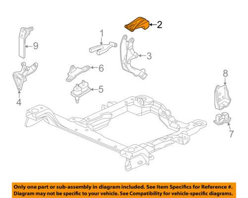 GM OEM Engine Motor Transmission-Strut Front Bracket 10274661