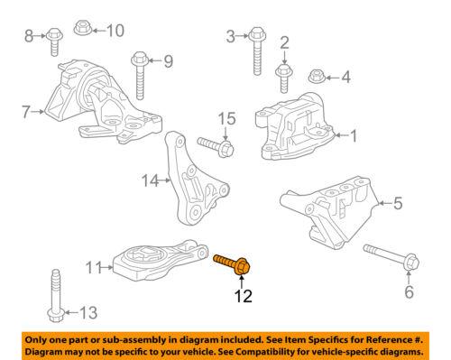 GM OEM Front Suspension-Strut Bolt 24430521