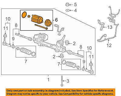 GM OEM Steering Gear-Electric Power Steering Motor 13419648