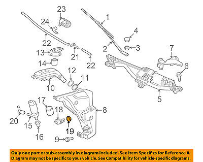AUDI OEM A4 Quattro Wiper Washer-Windshield-Fluid Level Sensor Seal 7M0919382