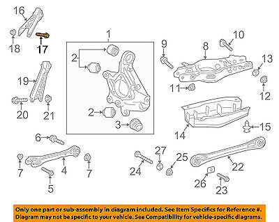 GM OEM Rear Suspension-Upper Control Arm Bolt 11610908