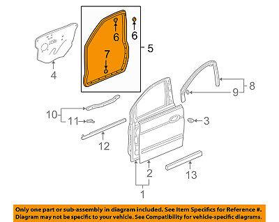 Acura HONDA OEM 01-06 MDX Front Door-Weatherstrip Seal Right 72310S3VA01