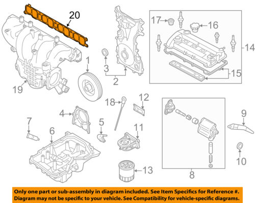 mazdaspeed 6 engine diagram mazda oem 07 13 3 engine intake manifold gasket l3k913111 ebay  engine intake manifold gasket l3k913111