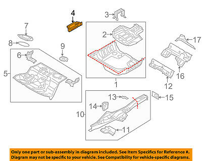 AUDI OEM 08-17 A5 Quattro REAR BODY-Floor Extension Right 8K0802090