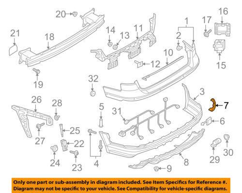 AUDI OEM 17-18 A4-Bumper Trim-Reflector Left 8W0945105D