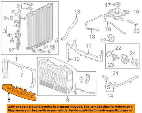 Chevrolet GM OEM 17-18 Colorado 3.6L-V6 Radiator-Air Inlet Baffle 84152205