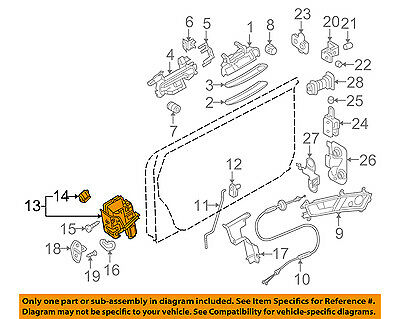 AUDI OEM 08-12 R8 Front Door-Door Lock Kit 4F1837015F