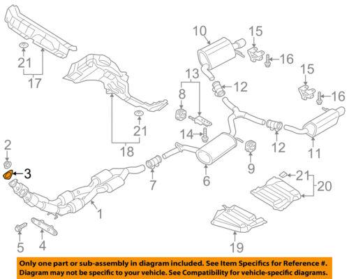 vw volkswagen oem 12 18 passat 3 6l v6 exhaust converter \u0026 pipe