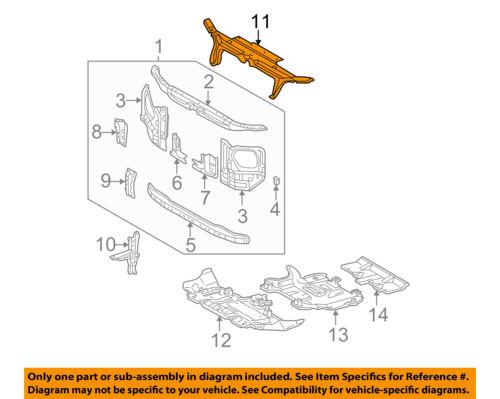 Upper 6Cyl//8Cyl Plastic 4RUNNER 03-09 RADIATOR SUPPORT Seal