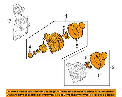 AUDI OEM 10 13 A3 Alternator 06F903023F