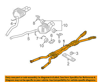 BMW OEM 06-10 M6 5.0L-V10 Exhaust System-Exhaust Pipe 18307836547