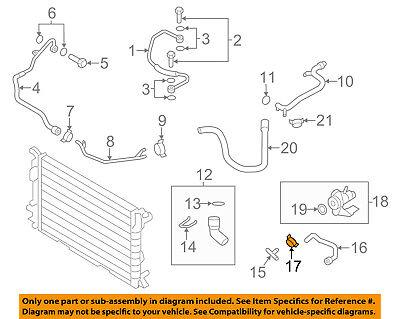 AUDI OEM 09-15 Q7 3.0L-V6 Cooling-Connector Hose Clamp N90687001