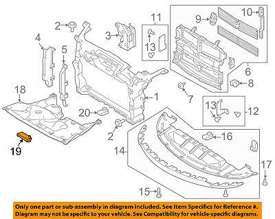 AUDI OEM 08-16 TT Quattro Radiator Core Support-Under Cover Screw WHT000729A