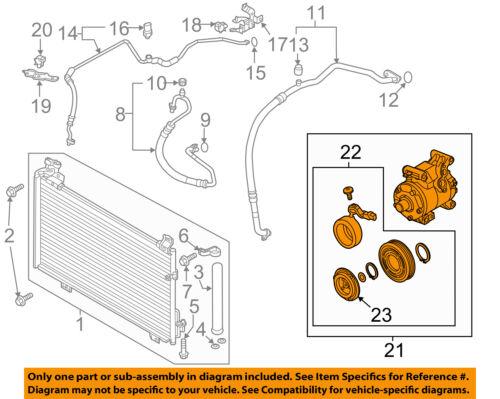 MAZDA OEM 14-15 6-A/C AC Compressor BFD161450