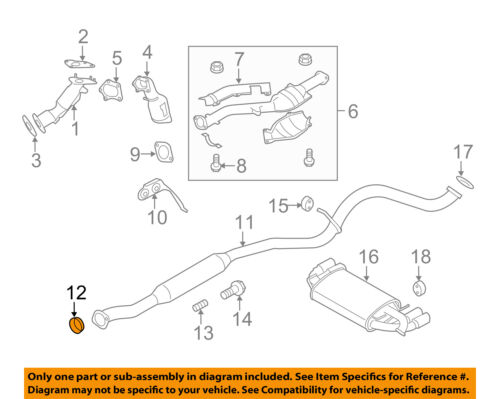subaru oem 04 16 forester 2 5l h4 exhaust intermed pipe gasket rh ebay com
