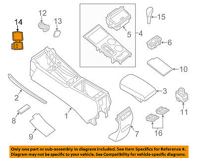 Nissan Auxiliary Input - NISSAN OEM Altima Center Console-Auxiliary Radio Stereo Input Jack 28023ZX70A