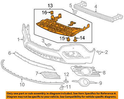 Buick GM OEM 13-16 Encore Front Bumper-Splash Shield 94550786