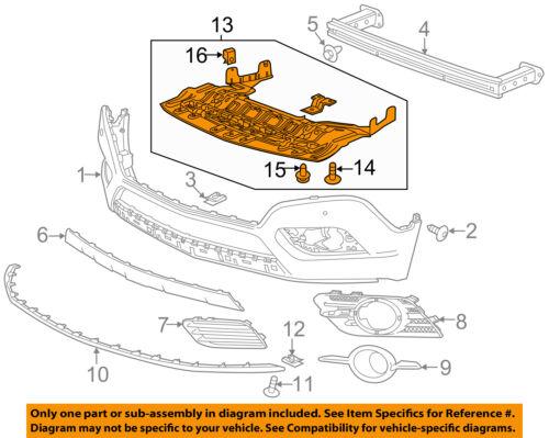 Buick GM OEM 13-16 Encore Front Bumper-Spoiler Lip Chin Splitter 95021807