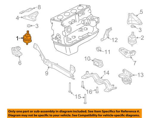 Genuine OEM Audi 8E0-199-379-BJ Motor Mount 2007-2009 A4 2007-2009 A4 Quattro