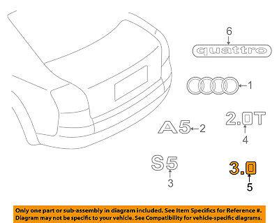AUDI OEM 09-18 A6 Quattro Trunk Lid-Emblem Badge Nameplate 4F0853743P2ZZ