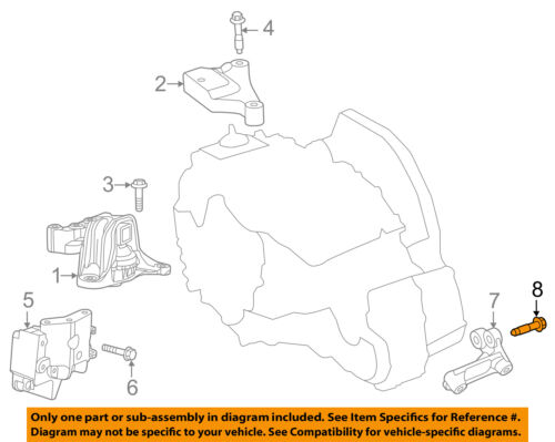 Saturn GM OEM Vue Engine Motor Transmission-Upper Transmission Mount 25827638