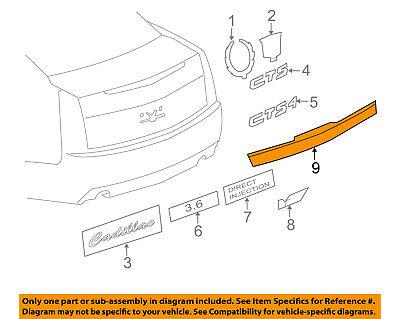Cadillac GM OEM 08-10 CTS Trunk Lid-Molding Trim 20876269