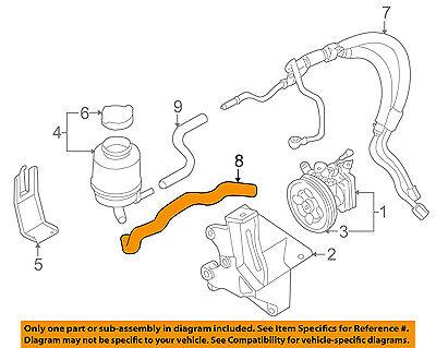 SUBARU OEM 05-07 Outback-Power Steering Suction Hose 34611AG05C