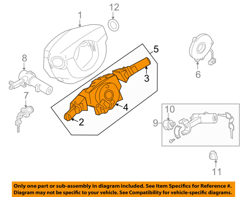 Nissan Oem 07-12 Pathfinder-multifunction Switch Lever Multi Function 255609ch3d