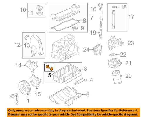 VW VOLKSWAGEN OEM 11-15 Jetta Engine Parts-Drain Plug N91086801 | eBay