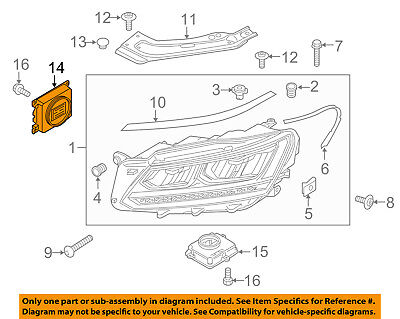 VW VOLKSWAGEN OEM Headlight Head Light Lamp-Power Regulator 7PP941571AEZ04