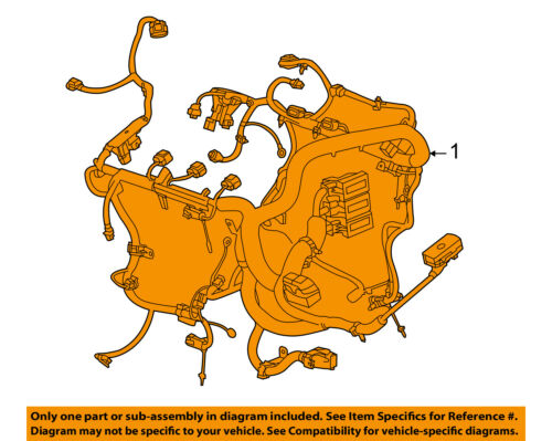 GM OEM-Engine Control Module ECM PCU PCM Wiring Harness 12650446