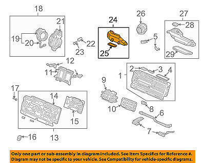 HONDA OEM 03-05 Civic Electrical-Outlet Duct 1J630PZA000