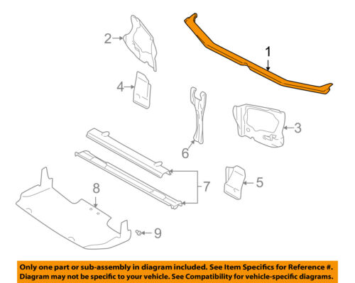 SUBARU OEM 98-02 Forester Radiator Core Support-Upper Tie Bar 53060FC000