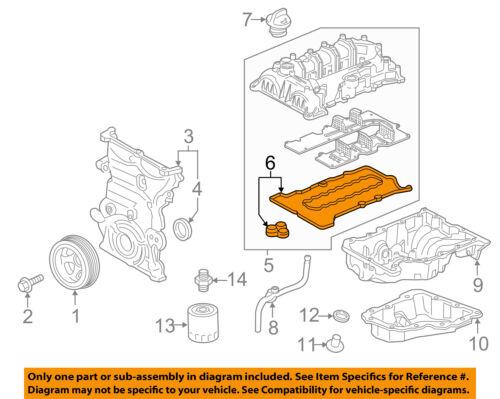 details about chevrolet gm oem 17 18 cruze engine parts valve cover gasket 12687228 Chevy 5.7 Engine Diagram