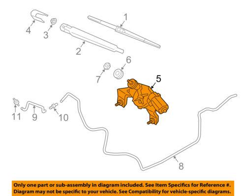 HYUNDAI OEM 13-14 Santa Fe Front Windshield Wiper Motor 981102W000