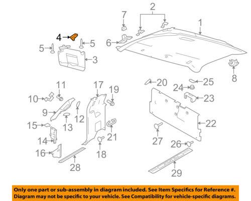 FORD OEM 09-10 F-150 Interior-Retainer AL3Z1504132AB