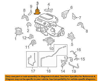 Acura HONDA OEM 09-14 TL-Engine Motor Mount Torque Strut 50820TK4A01