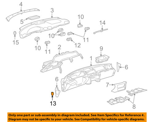 pontiac gm oem 95-05 sunfire instrument panel dash-fuse box door 22594154