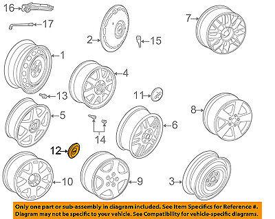 AUDI OEM 96-09 A4 Quattro Wheel-Center Cap Hub Cover 4B06011707ZJ
