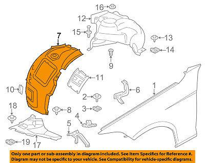BMW OEM 12-16 328i-Front Fender Liner Splash Shield Right 51717260726