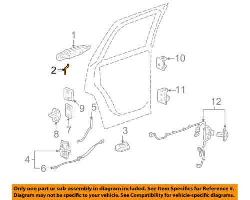 Genuine GM Handle Outside Rod 15831548