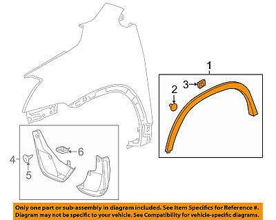 Chevrolet GM OEM Trax Front Fender-Wheel Well Flare Arch Molding Right 95275451