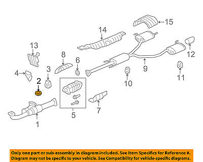 HONDA OEM Exhaust-Front Pipe Gasket 18212SA7003