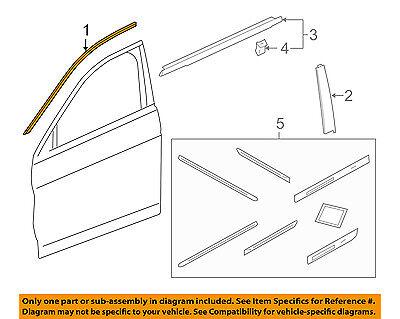 HONDA OEM 13-16 Accord Front Door-Upper Molding Trim Left 72465T2AA01