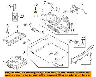AUDI OEM 08-17 A5 Quattro Interior-Rear-Trunk Trim Panel Retainer 4B0863907A01C