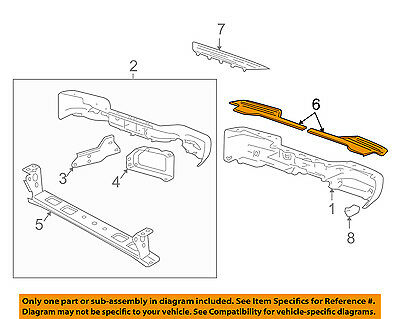 Cadillac GM OEM Rear Bumper-Step Pad Protector Scratch Guard Cover Left 15206905