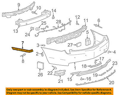 Cadillac GM OEM 13-18 XTS Rear Bumper-Outer Bracket Right 22895320