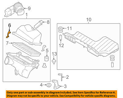 NISSAN OEM Air Cleaner Intake Air Cleaner Assembly Retainer Clip 16598AL50A